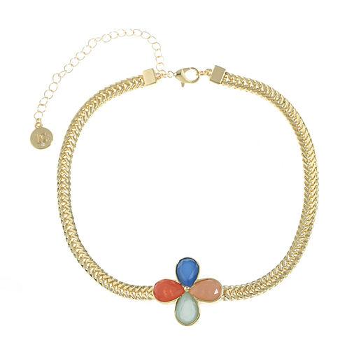 Liz Claiborne Womens Multi Color Choker Necklace