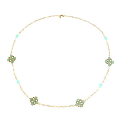 Monet Jewelry Womens Green Strand Necklace