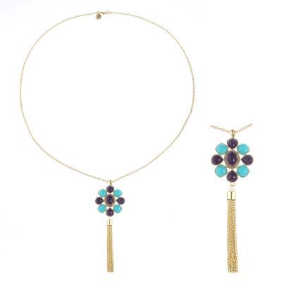 Monet Jewelry Womens Multi Color Pendant