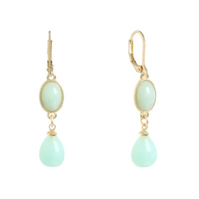 Monet Jewelry Green Drop Earrings