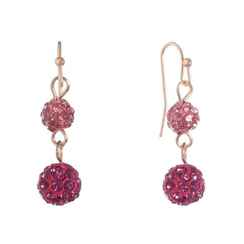Liz Claiborne Pink Drop Earrings