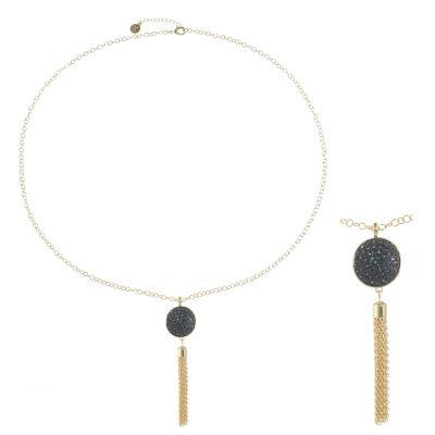 Liz Claiborne Womens Gray Pendant Necklace