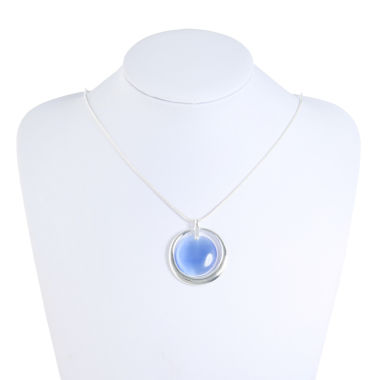 Liz Claiborne Womens Blue Pendant Necklace