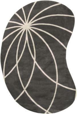 Decor 140 Asano Kidney Shape Hand Tufted Area Rug