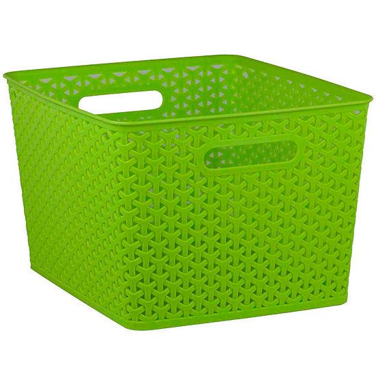 Home Basics Brights Open Storage Basket