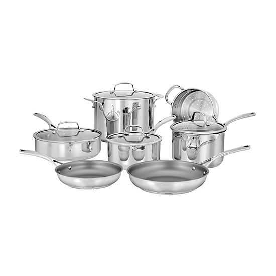 Cuisinart Forever Stainless 11-pc. Stainless Steel Dishwasher Safe Cookware Set