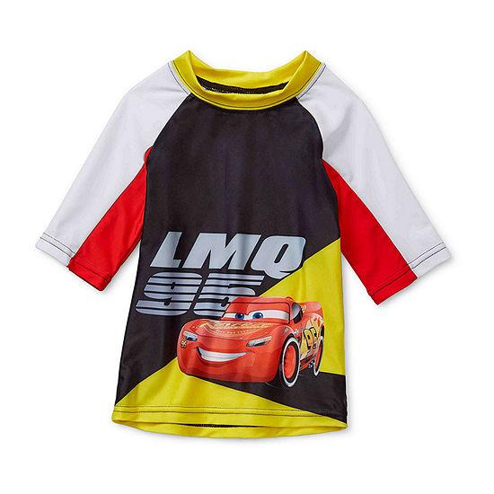 Disney Collection Little & Big Boys Cars Rash Guard