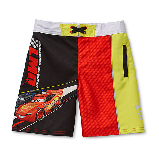 Disney Collection Little & Big Boys Cars Swim Trunks