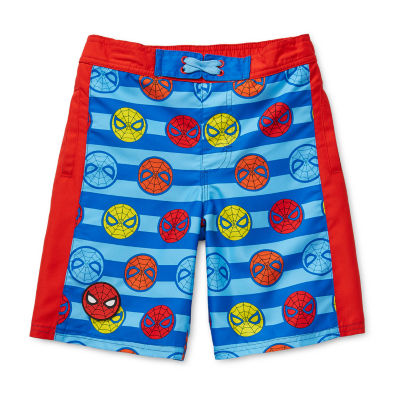 Disney Collection Little & Big Boys Marvel Swim Trunks