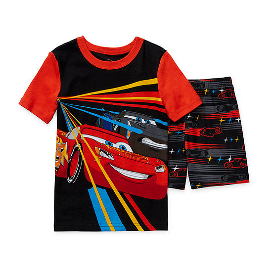Disney Collection Little & Big Boys 2-pc. Cars Shorts Pajama Set