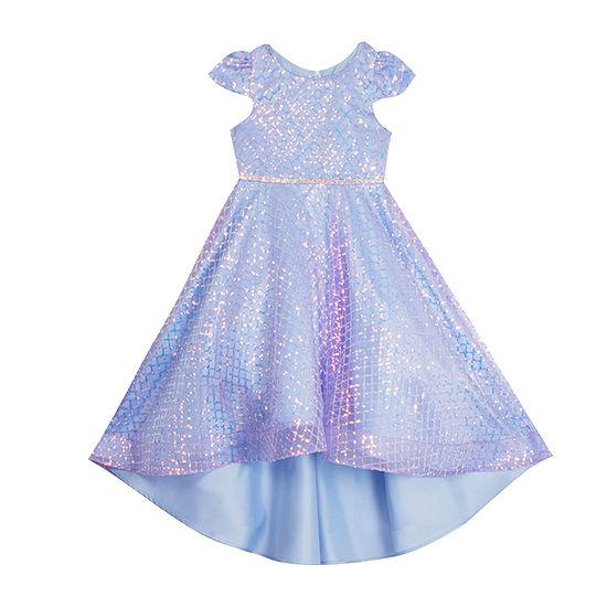 Rare Editions Little & Big Girls Short Sleeve Fit & Flare Dress