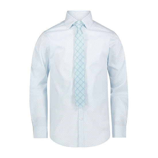 Van Heusen Flex Little & Big Boys Point Collar Long Sleeve Shirt + Tie Set