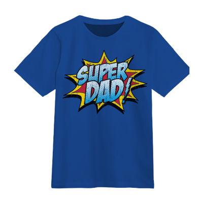 Super Dad Mens Round Neck Short Sleeve Graphic T-Shirt