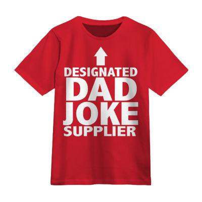 Dad Joke Supplier Mens Round Neck Short Sleeve Graphic T-Shirt