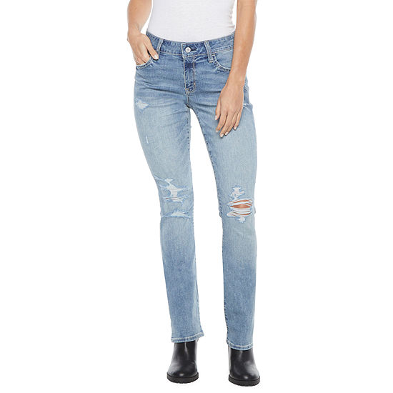 Arizona-Juniors Womens Mid Rise Regular Fit Bootcut Jean