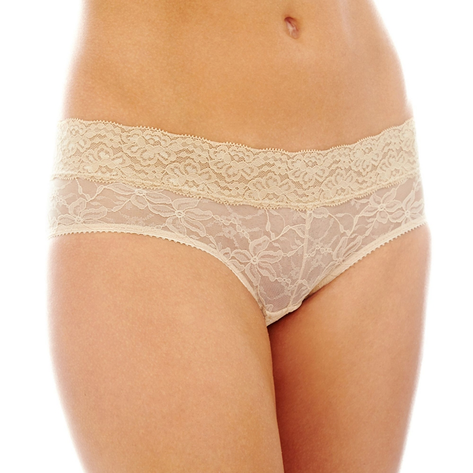 THE BODY Elle Macpherson Intimates Stretch Lace Hipster Panties, Toasted Almond