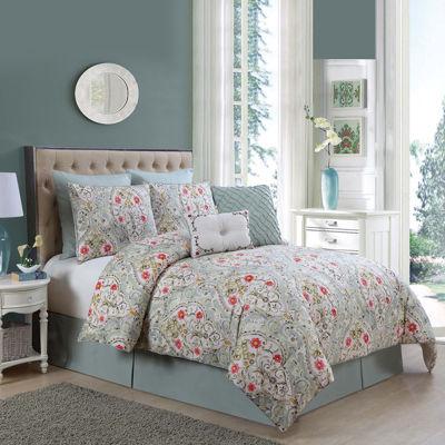 VCNY Evangeline 8-pc. Floral Comforter Set