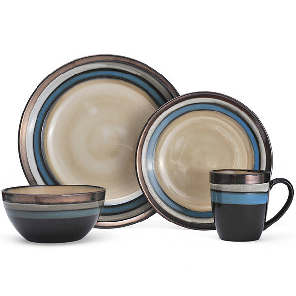 Gourmet Basics by Mikasa® Spector 16-pc. Dinnerware Set  sc 1 st  JCPenney : complete dinnerware sets - pezcame.com