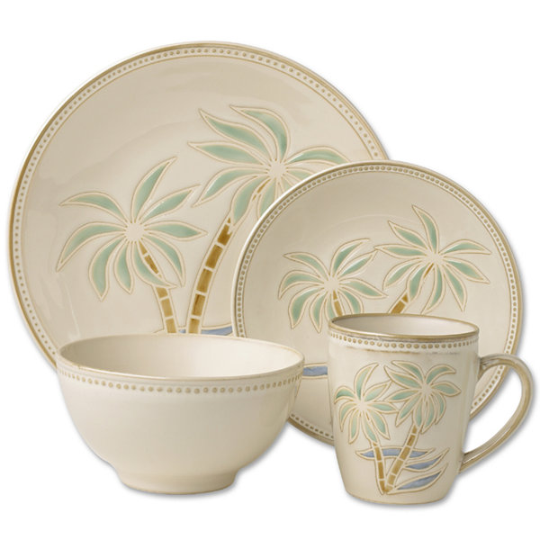Pfaltzgraff® Everyday Palm 16-pc. Dinnerware Set  sc 1 st  JCPenney : every day dinnerware - pezcame.com