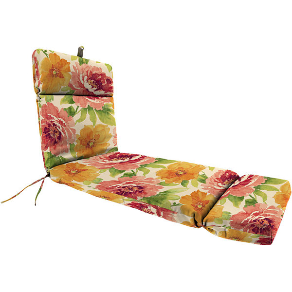 "French-Edge 22x72"" Reversible Chaise Chair Cushion"