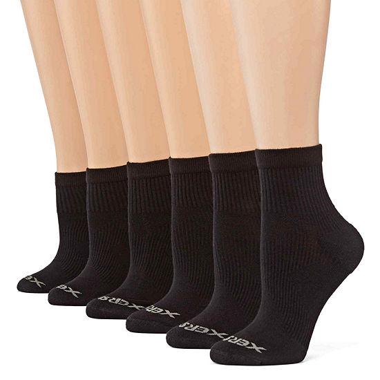 Xersion 6 Pack Zone Cushion Quarter Socks- Womens