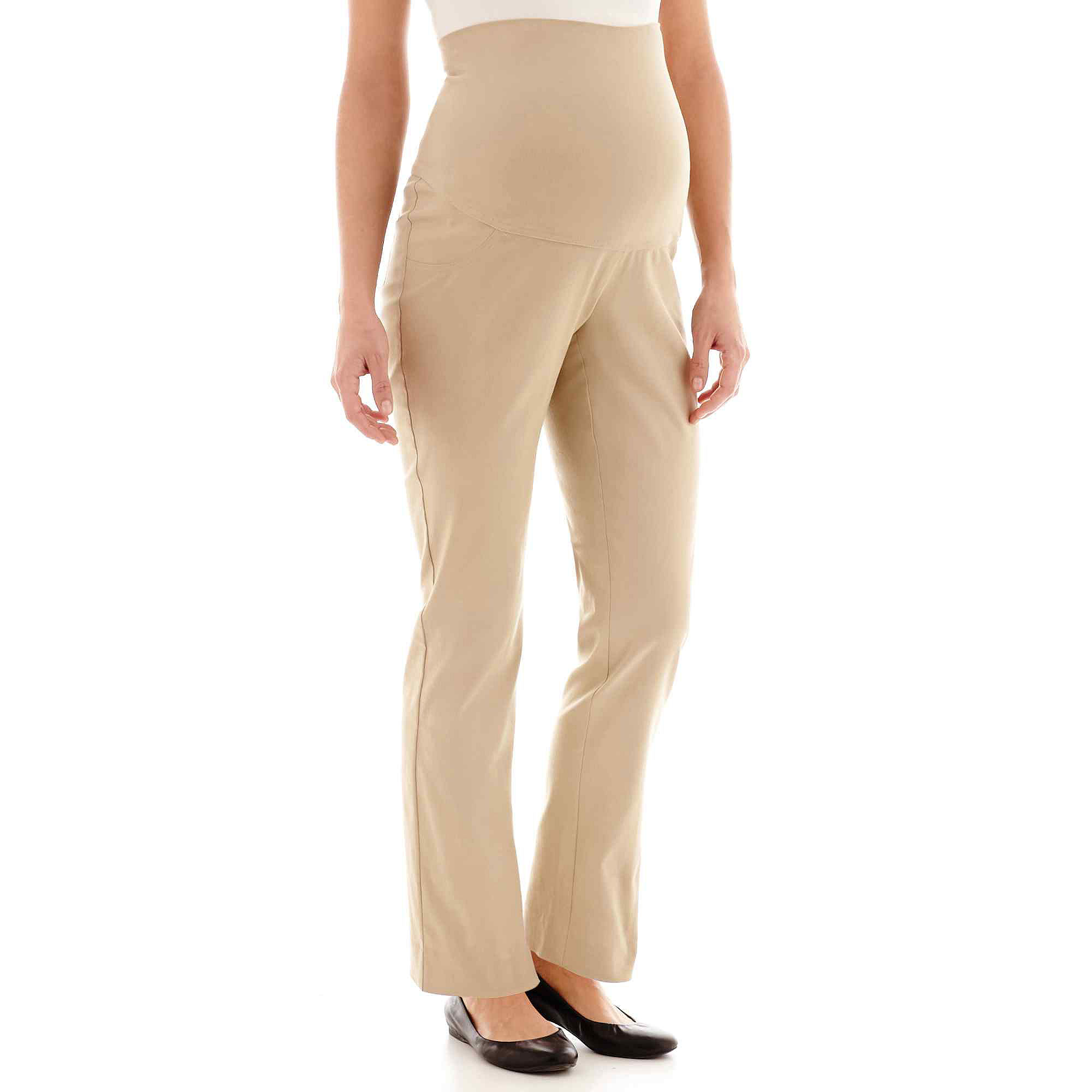 Maternity Millennium Overbelly Straight-Leg Pants plus size,  plus size fashion plus size appare