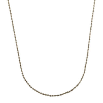 """LIMITED QUANTITIES! 14K White Gold Hollow 20"""" Rope Chain Necklace"""
