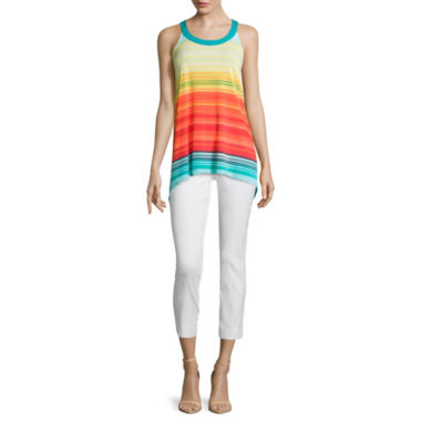 jcpenney.com | Worthington® High-Low Racerback Tank Top or Slim-Fit Ankle Pants