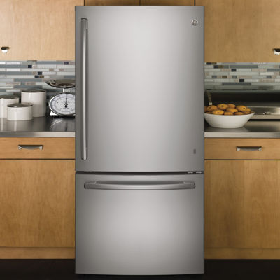 GE® Series ENERGY STAR® 24.9 cu. ft. Bottom-Freezer Drawer Refrigerator