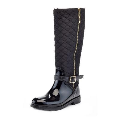 Henry Ferrera Womens Omg 100 Rain Boots Water Resistant Flat Heel Zip