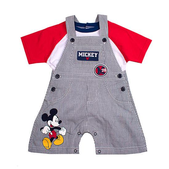 Disney Boys Mickey Mouse Shortalls - Baby