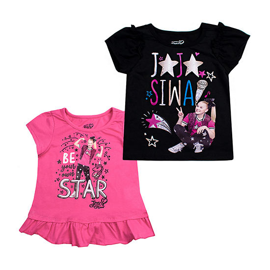 Jojo Siwa Girls Crew Neck Short Sleeve Graphic T Shirt Preschool