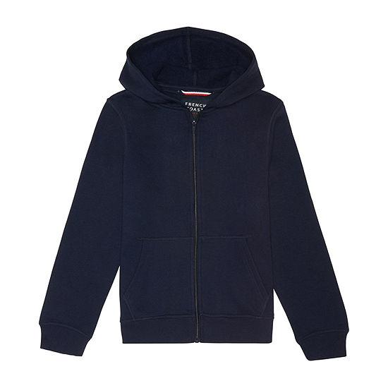 French Toast Hooded Long Sleeve Fleece Uniform Sweatshirt- Toddler Boy 2T-4T