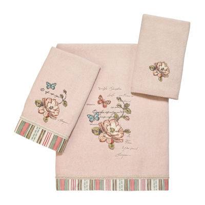 Avanti Butterfly Garden Il Embroidered Floral Bath Towel