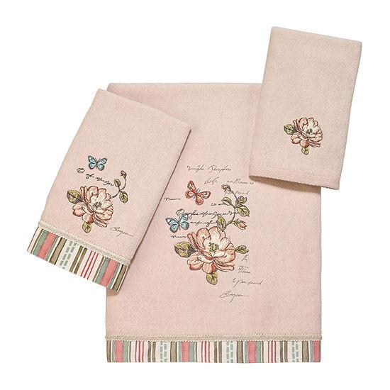 Avanti Butterfly Garden Ii Embroidered Floral Bath Towel