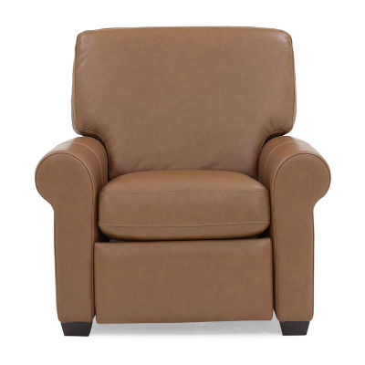 Leather Possibilities Roll Arm Recliner