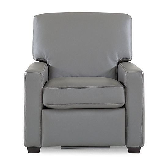 Leather Possibilities Track Arm Recliner