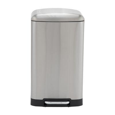 Household Essentials Crescent 40L Rectangular Stainless Steel Step Bin