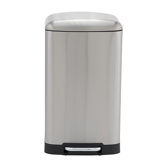 Household Essentials Crescent 40L Rectangular Stainless Steel Step Bin