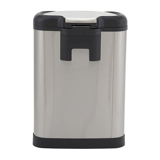 Household Essentials Linden 50L Stainless Steel Oval Step Bin