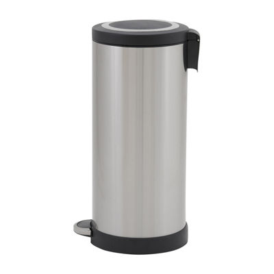 Household Essentials Windsor Stainless Steel 30L Round Step Bin