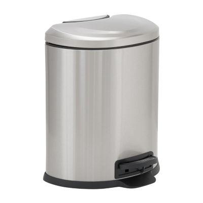 Household Essentials Aspen Stainless Steel 6L Oval Step Bin