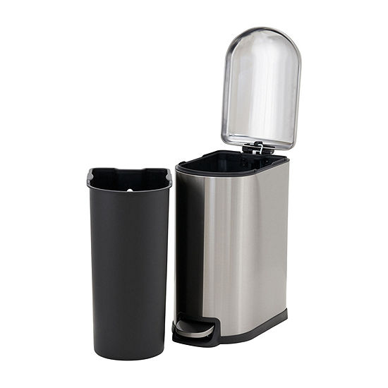 Household Essentials Tuscany Stainless Steel 10L  Narrow Step Bin
