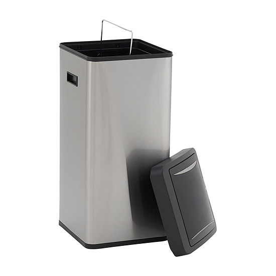 Household Essentials Harbour Stainless Steel 30L Square Sensor Bin