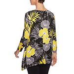 Lark Lane Must Haves Ii Womens Round Neck 3/4 Sleeve Tunic Top