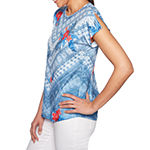 Lark Lane Must Haves Ii-Womens Round Neck Short Sleeve T-Shirt