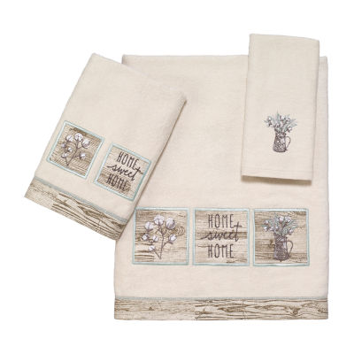 Avanti Sweet Home Embroidered Floral Bath Towel