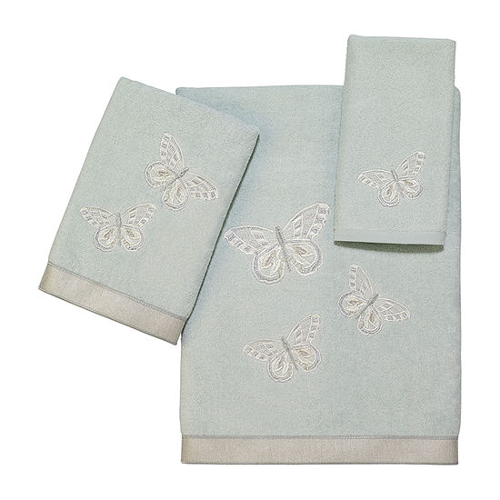 Avanti Butterflies Embroidered Bath Towel