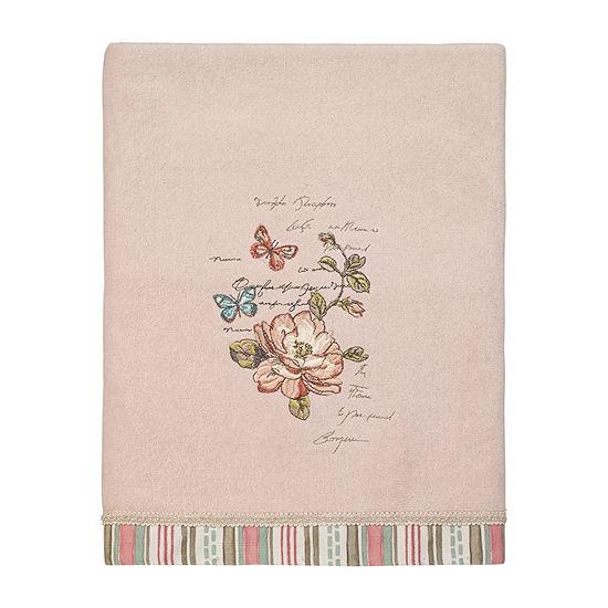 Avanti Butterfly Garden Ii Embellished Floral Bath Towel