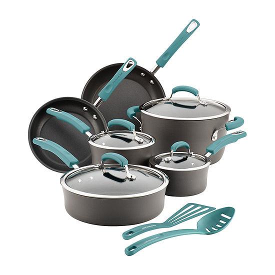 Rachael Ray 12-Pc. Cookware Set 12-pc. Aluminum Non-Stick Cookware Set